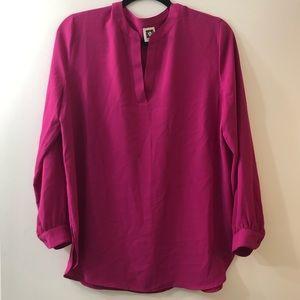 NWOT Anne Klein Fuscia Blouse Shirt - SZ M